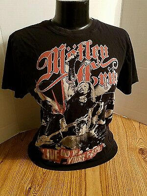 Mötley Crue concert T-SHIRT live and in your Face 2011
