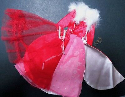 Vintage Barbie Dress Gown #1646 Magnificence with Japanese Exclusive Red Slip