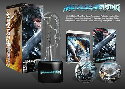 Metal Gear Rising Revengeance limited edition PS3 NEW - plasma lamp - steelbook