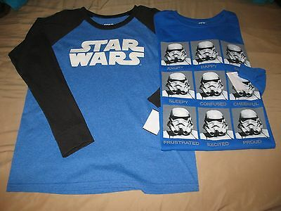 2x Star Wars Long Sleeve Shirts - Youth/Boys Extra Large/XL - NEW