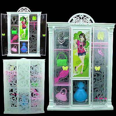 Princess Wardrobe Lockers Furniture Comb Bag Accessories For Barbie Dollhouse 53