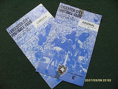 Two Leicester City Football Programmes.