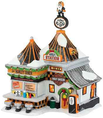 Department 56 North Pole Series Village Harley Pump and Go Diner Lit House, 8.3-