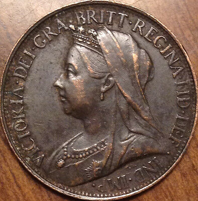 1895 Uk Great Britain Farthing Superb Hg Example A Very Nice Example