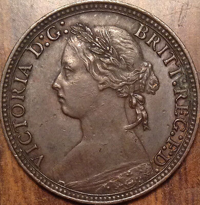 1880 Uk Great Britain Farthing A Superb Hg Example Very Collectable