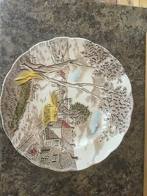 """W H Grindley Staffordshire Sunday Morning Plate 10"""""""