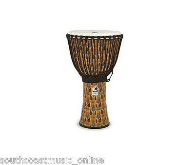 "Toca Kente Print Djembe Hand Drum 10"" Inch Synthetic Lightweight Brand New!"