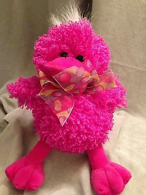 Easter Ducky Soft Plush Huggable Stuffed Unique Fuchsia Gift Childrens 10""