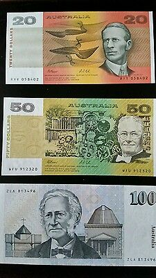Set Of Paper Notes  $1,$2,$5,$10,$20.$50,$100