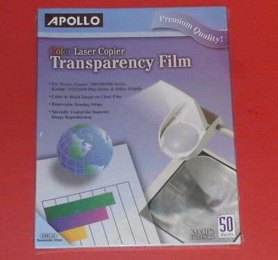 Apollo Color Laser Printer Transparency Film No Stripe (8.5 x 11 )
