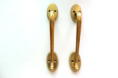 Pair of Vintage Antique Door handles cabinet pulls drawer brass knobs hardware D