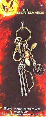 NEW! Official NECA The Hunger Games Movie  Bow & Arrow Bag Clip Lions Gate Films
