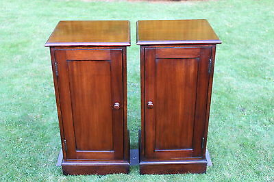 PAIR VICTORIAN MAHOGANY STYLE  BEDSIDE CABINETS  CUPBOARDS free delivery