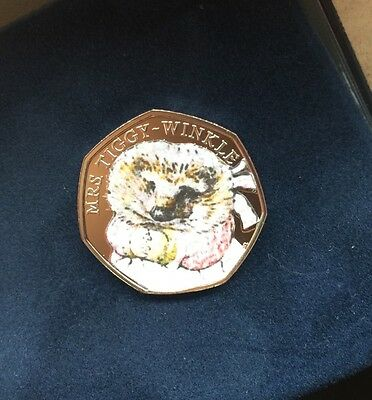 BEATRIX POTTER Mrs Tiggy  -Winkle  50P COLOUR(not Silver Proof Coin)