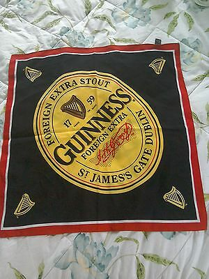 Guinness Branded Scarf 50CM SQUARE