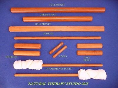 Warm bamboo massage 12 piece stick kit for therapists for a full treatment OFFER