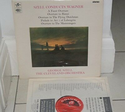 """Columbia Sax 5277 -Wagner Szell """"faust"""" Rare Stereo Ed1 Red S/c Lp Ex+ Sxl"""