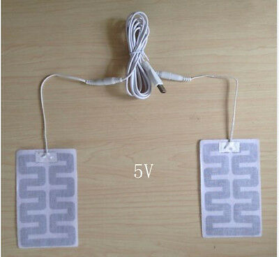 1Set 5V USB usb heating film Warm foot treasure Heaters warm insoles 8 * 13cm x2