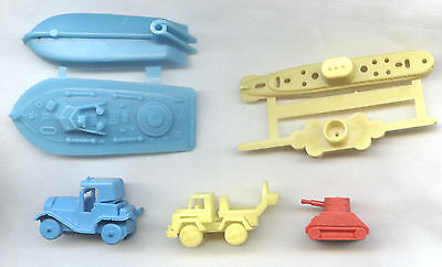 KELLOGG'S Cereal TOYS Promotional Giveaways VGC Boat/ Tank/ Car/ Submarine