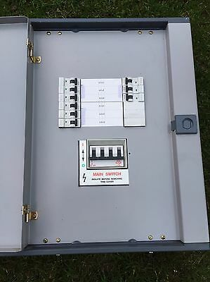 Mem Memshield 4 Way Distribution Board Fuse Consumer Unit 3 Phase Three TPN Box
