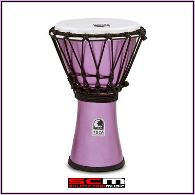 Toca 7″ Freestyle Colorsound Djembe Hand Drum – Metallic Violet Purple
