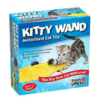 Kitty Wand Cat's Meow Undercover Yellow Skirt Motorised Moving Wand Mouse Toy...