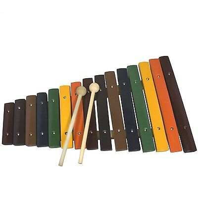 Tiger XYL21-CL 15 Note Kids Wooden Xylophone 15 Blocks