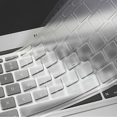 Se7enline Clear Macbook Keyboard Cover Silicone Skin Protector (Europe Layout...