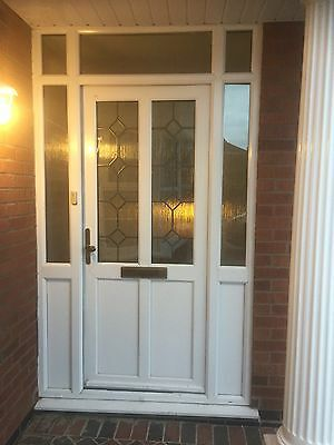 White Double Glazed Door With Side Panels
