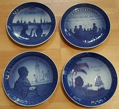 VINTAGE ROYAL COPENHAGEN WALL PLATES 1970s James Cook USA Congress Hans Orsted
