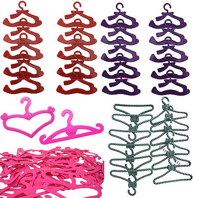 Wholesale Plastic Hanger Holder For Barbie Doll Clothes Dress Outfits Hot Toy #G