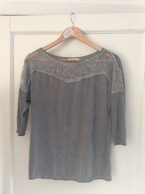 tee shirt manches longues femme gris Promod taille 40