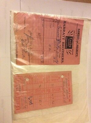 Nice Old Vintage Documents From Brooke Bond Tea And Barrett Brothers Of Whitby