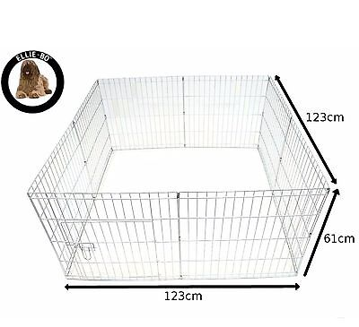 Ellie-Bo Easy-Up Puppy Rabbit Play Pen 76 cm Silver 8-Piece