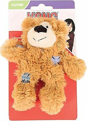 KONG Softies Patchwork Bear Cat Toy