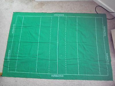 Vintage Subbuteo Rugby Baize Pitch **has A Small Mark & A Frayed Edge**