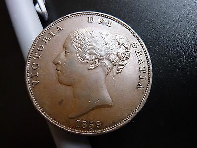 1859 Victorian Young Head Penny