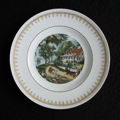 """'Currier & Ives' by Danbury Mint Bing & Grondahl - """"Home of the Mississippi"""""""