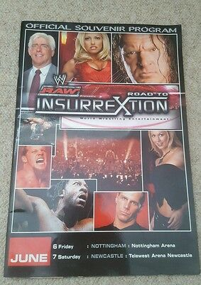 WWE Insurrextion 2003 Official Program with Ticket Rare Collectors Item