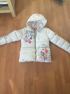 Next Girls Flower Puffa Jacket Aged 10