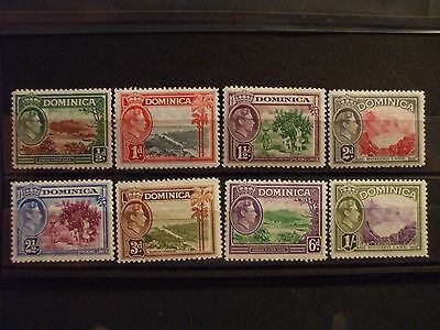 DOMINICA -1938 KGVl Issue Part Set of 8vs MH Cat 10.00 (6J)