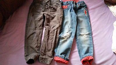 2 X Trousers Boys 4-5 Years