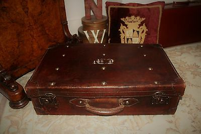 Vintage Leather suitcase / Shop Prop / Storage Unit