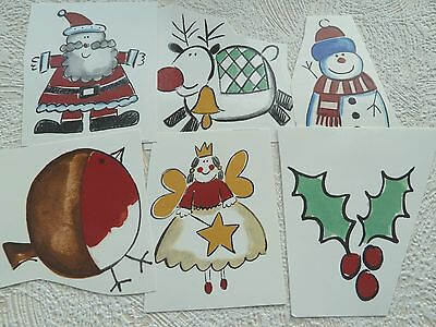 Ceramic Decal Christmas Characters Robin Father Christmas Snowman 80/50/25mm