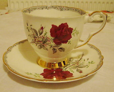 Royal Stafford 'roses To Remember' Cup & Saucers, Vgc