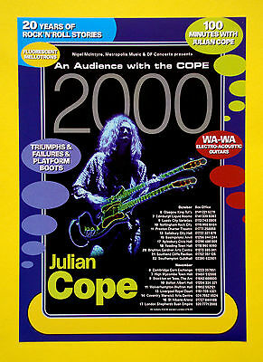 Julian Cope 'An Audience with the Cope 2000' A5 tour flyer...ideal for framing!