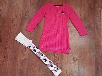 Girls Christmas set - Jumper tunic dress and leggings size 6 years