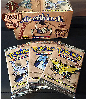 Pokemon Fossil Booster Pack 1999 1st FIRST EDITION New & Sealed