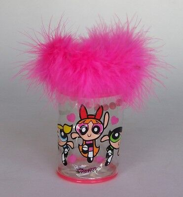 The Powerpuff Girls Pink Glamour Bag/Pencil Case/Carry Case (2001)
