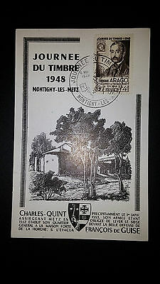 First Day Cover Arago Journee Du Timbre 6/05/1948